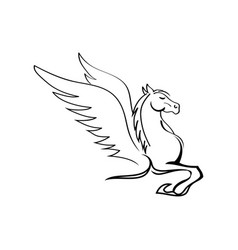 Flying winged pegasus horse vector