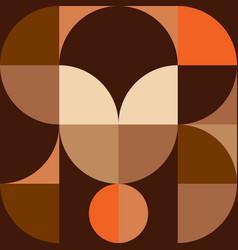 geometry minimalistic wall art vintage background vector image