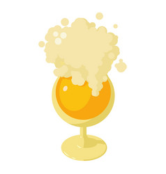 glass of beer icon isometric style vector image