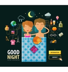 Good Night logo design template Dream vector image