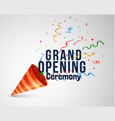 Grand opening ceremoney background with confetti vector