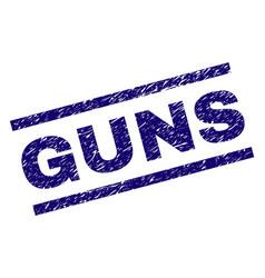 Grunge textured guns stamp seal vector