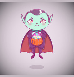 halloween little vampire dracula boy kid with vector image