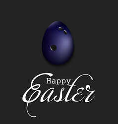 happy easter egg in form a bowling ball vector image