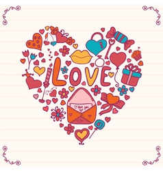 Heart shape vector
