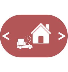 Home delivery icon vector