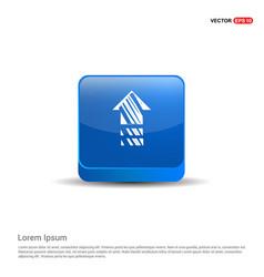 house icon - 3d blue button vector image