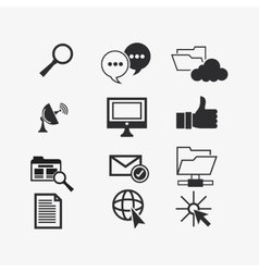 internet and communication related icons vector image
