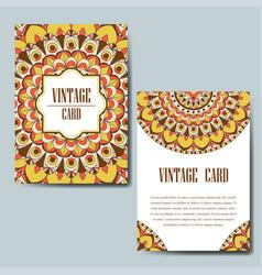 Invitation card with mandala decorative ornament vector