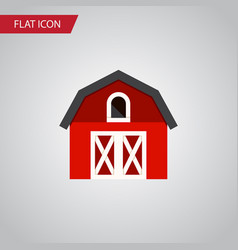 Isolated depot flat icon hangar element vector