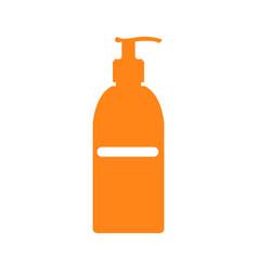 Isolated sunscreen bottle vector