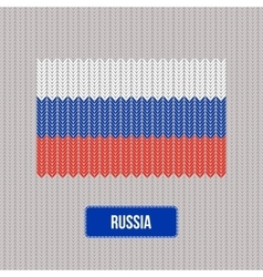 Knitting Russia flag Stylish background vector
