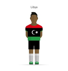 Libya football player Soccer uniform vector