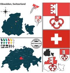 Map of Obwalden vector