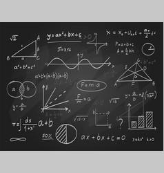 Math chalkboard with formula vector