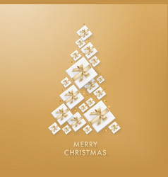 Merry christmas golden glitter background vector