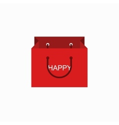 Modern shopping happy icon on white vector