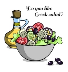 Natural Food Greek Salad vector image