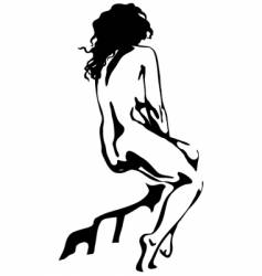 nude vector image