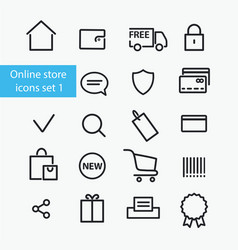online store icons vector image