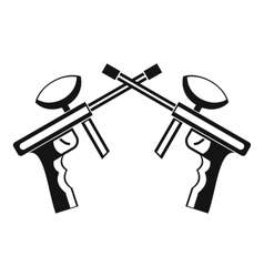 Paintball guns icon simple style vector image