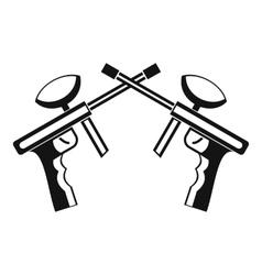 Paintball guns icon simple style vector