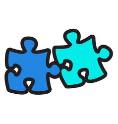 pieces of a puzzle vector image