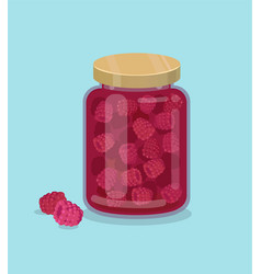 Raspberry jam vector