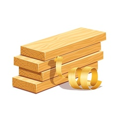 Rasped wooden boards and vector image