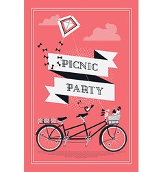 Retro Picnic Party vector image