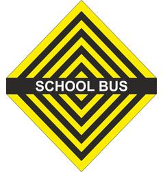 School bus yellow black arrow vector