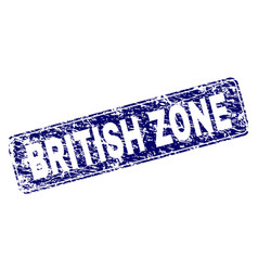 Scratched british zone framed rounded rectangle vector