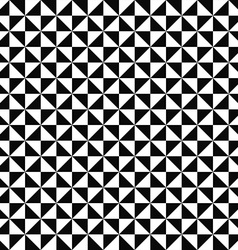 Seamless monochrome triangle pattern design vector