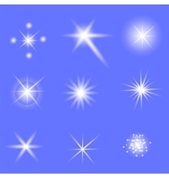 Set of Different White Lights vector image