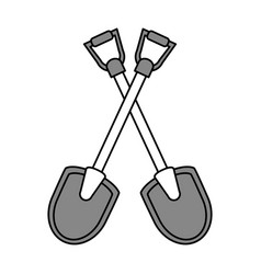 Shovel tools design vector