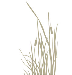 silhouette reed bush vector image