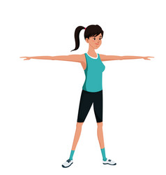sport girl exercise training image vector image