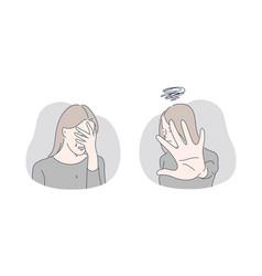 Stress depression refusal set concept vector