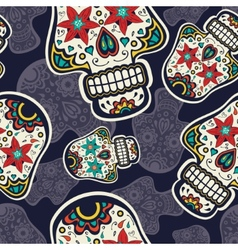 Sugar skulls pattern vector