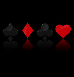 Suit deck playing cards on background vector