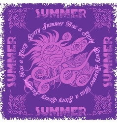 Summer composition and sun vector image