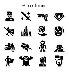Super hero icon set vector