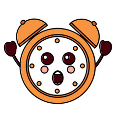 Suprised clock kawaii icon image vector