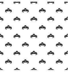Tiara crown pattern seamless vector