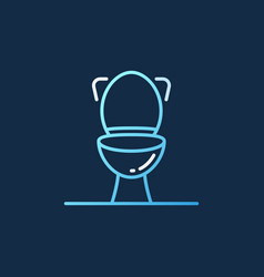 toilet concept colored outline icon on dark vector image