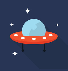 ufo icon set of great flat icons with style long vector image