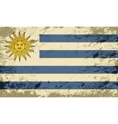Uruguayan flag Grunge background vector