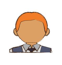 waiter man cartoon vector image