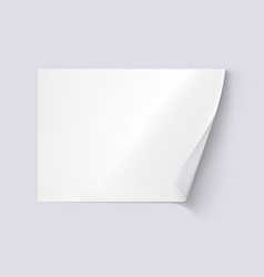 White sheet of paper on white background vector