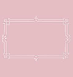 white vintage frame vector image